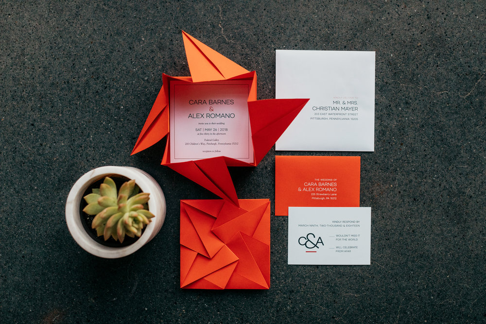 Square Origami Invitation