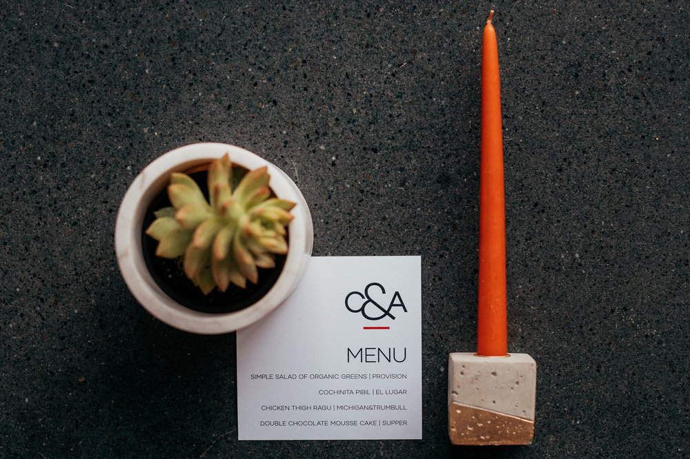 Custom Square Minimalist Wedding Menu