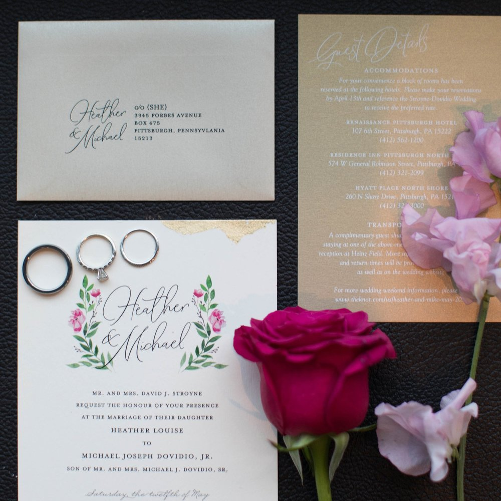 Heather + Mike : Modern Romance  photo by tara bennett photography