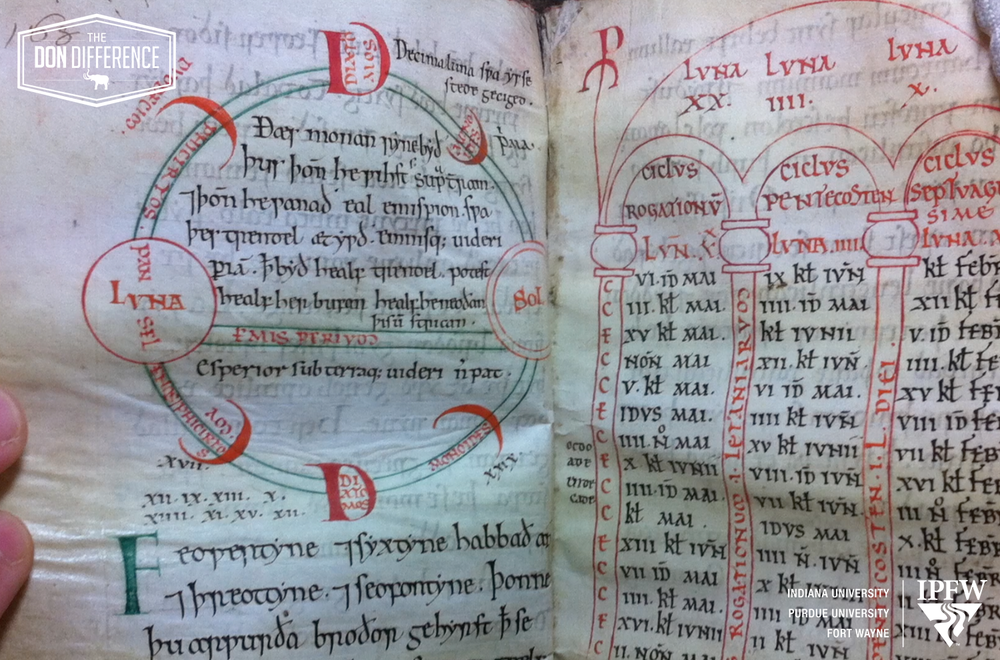 Plumbing the depths of medieval manuscripts is key to Professor Fleming's research.