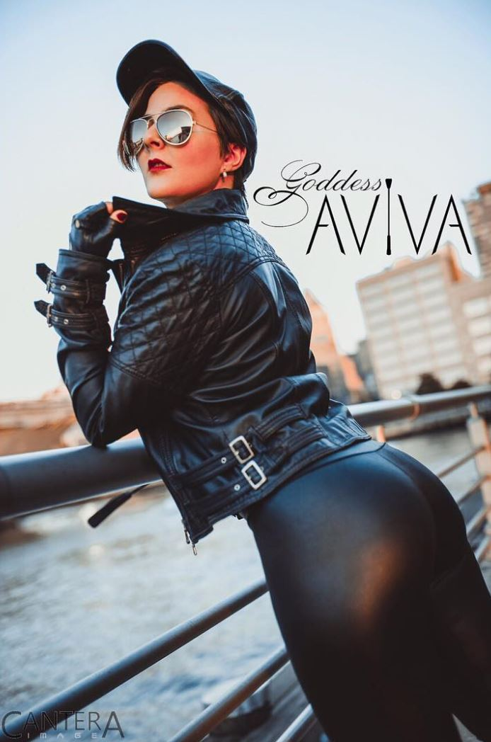 Goddess Aviva - Goddess Aviva is a lifestyle and professional Dominatrix. Aviva is based in NYC and travels both domestically and internationally, where she offers femdom and fetish sessions for the select chosen, teaches public and private classes/workshops geared towards kink and sex-positivity, and trains Her ever-growing, international stable of personal slaves.