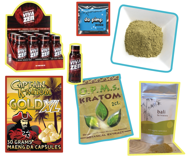An assortment of kratom products. The FDA says its aware of 44 deaths associated with kratom.