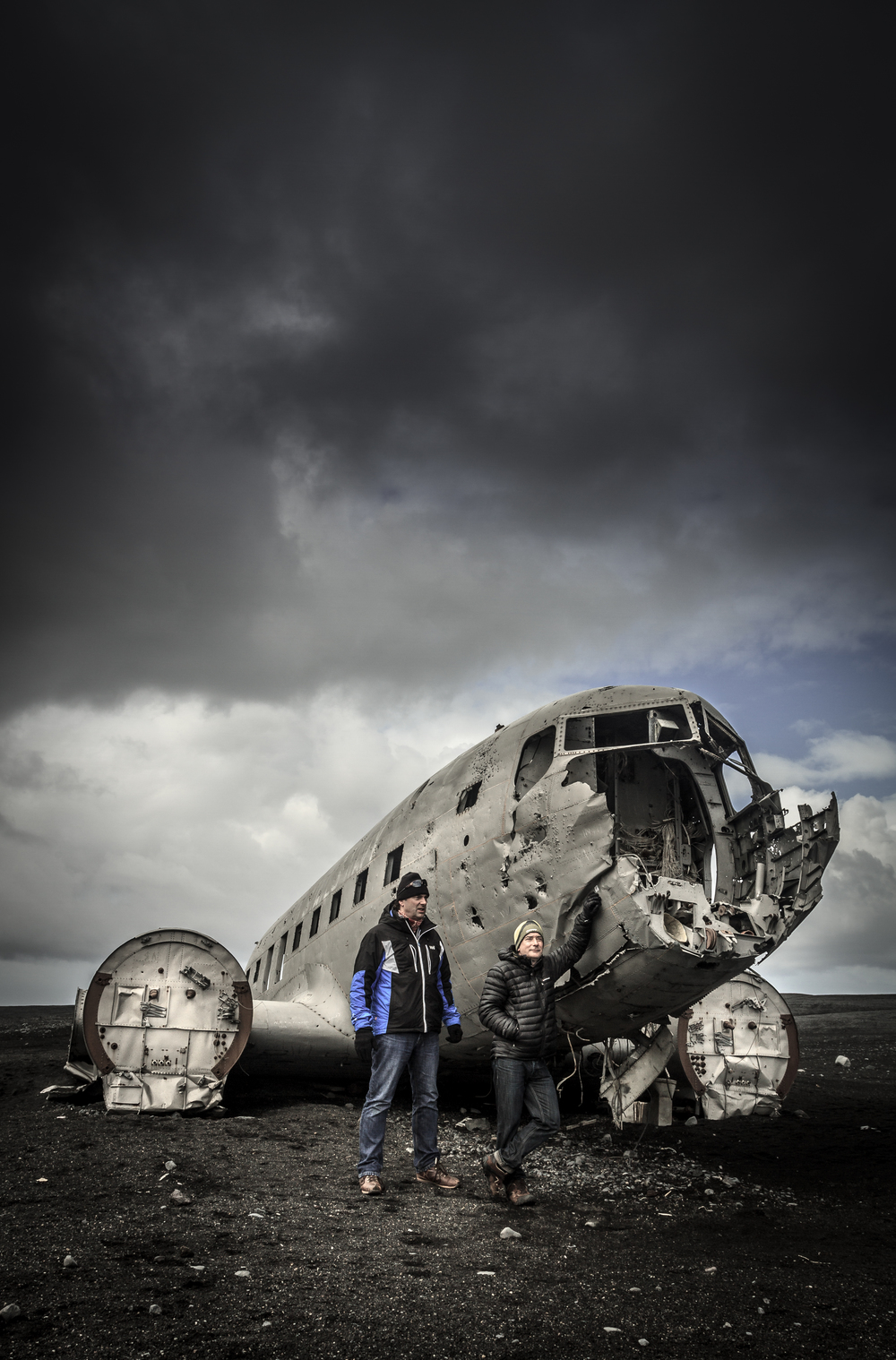 What's left of the DC-3 after 40 years of Icelandic weathering..