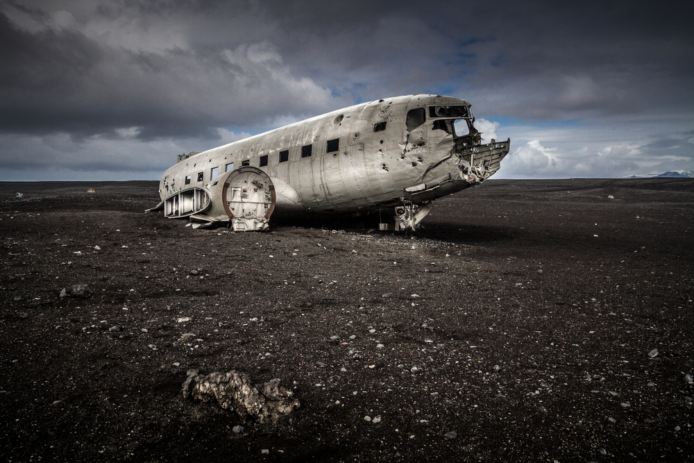 Slowly disintegrating, the plane was said to have crashed after the pilot switched to the wrong fuel tank.
