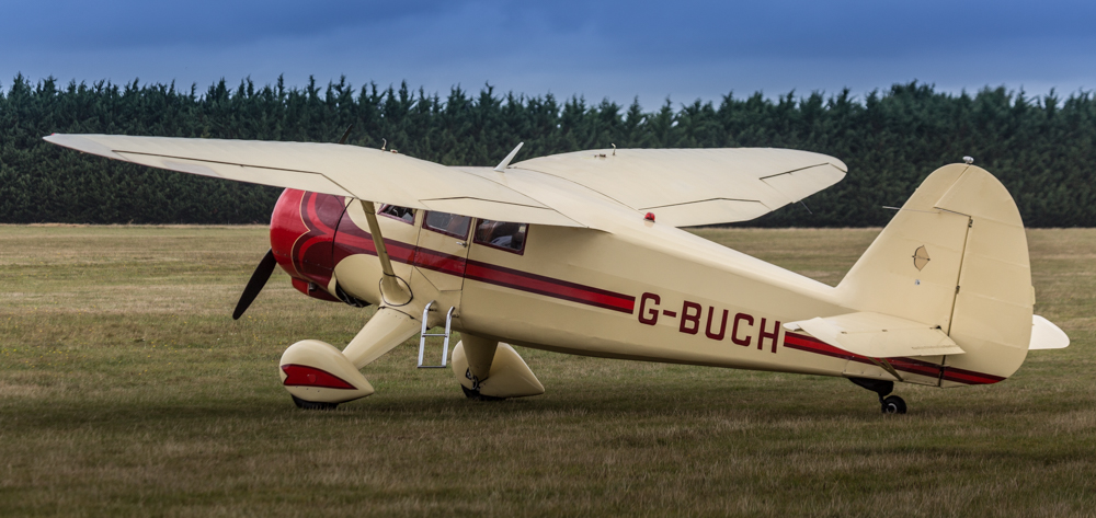 G-BUCH Stinson V-77 Reliant gave a beautiful demonstration of its grace and power.