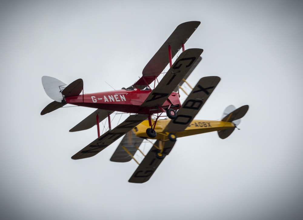 Close call for the Tiger Moth Display Team