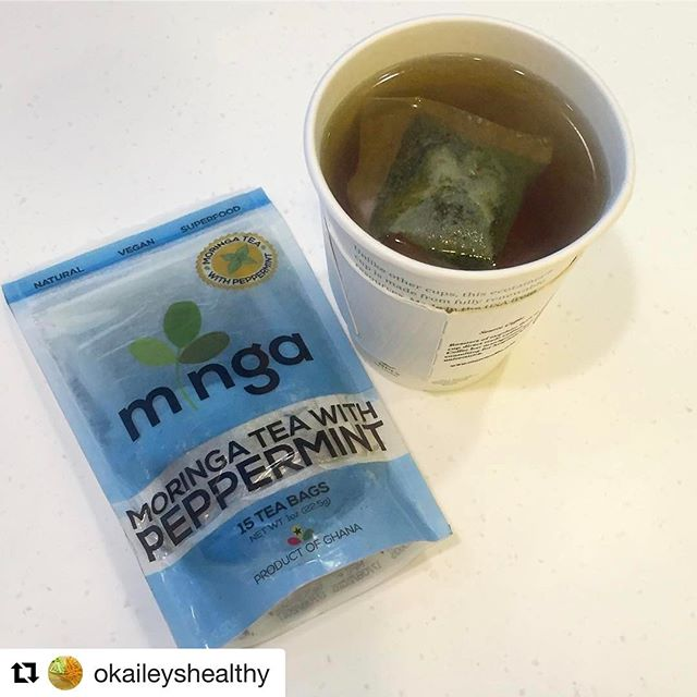 We love seeing customer testimonials! Thanks @okaileyshealthy for the sweet shout out. ❤️❤️❤️ #Repost @okaileyshealthy with @repostapp ・・・ When the tea is made with a superfood (moringa), rich in antioxidants and proudly made in Ghana 🇬🇭🤗💃🏾. If you've never heard of moringa and its benefits, please google it and thank me later 😉. Shoutouts to @mingafoods for this good quality product and your packaging is 👌🏿. Nope I wasn't paid to say this, it's just my honest opinion  #okaileyshealthy #moringa #moringatea #healthy #superfood #antioxidants #antiinflammatory #brainhealth #brainfood #vitaminC #nutritious #natural #vegan #healthychoices #nocaffeine #hearthealthy #lifestylechange #fitfam #fitfood #fitlife #zen #madeinghana #Ghana #madeinafrica  #Makelifehealthy #moringa #tea #detox #peppermint