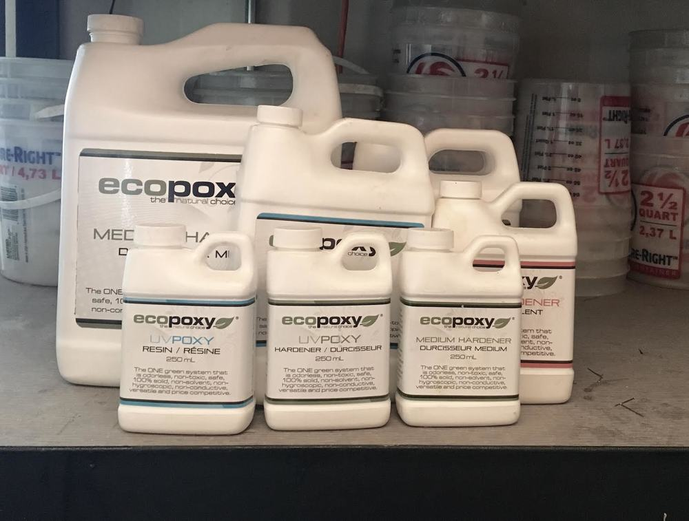 The EcoPoxy we use does not contain harsh organic compounds or heavy metals, making the resin environmentally friendly and food-safe.
