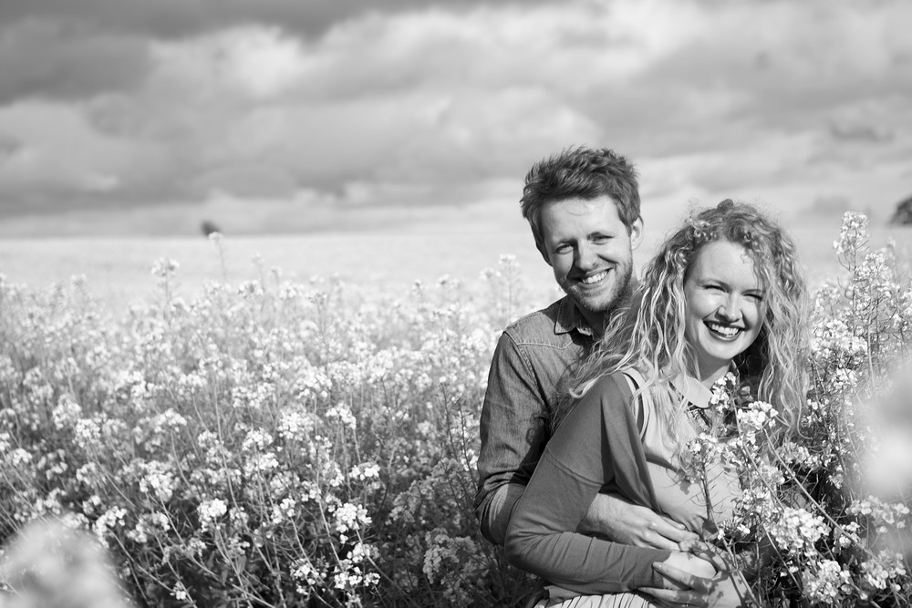 An engagement photoshoot in Lincolnshire