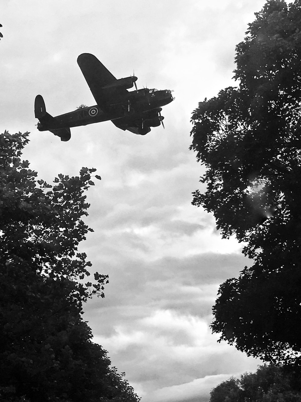 It's not every day a Lancaster Bomber lands almost on top of you. No DSLR?no problem! Shot on my iPhone.