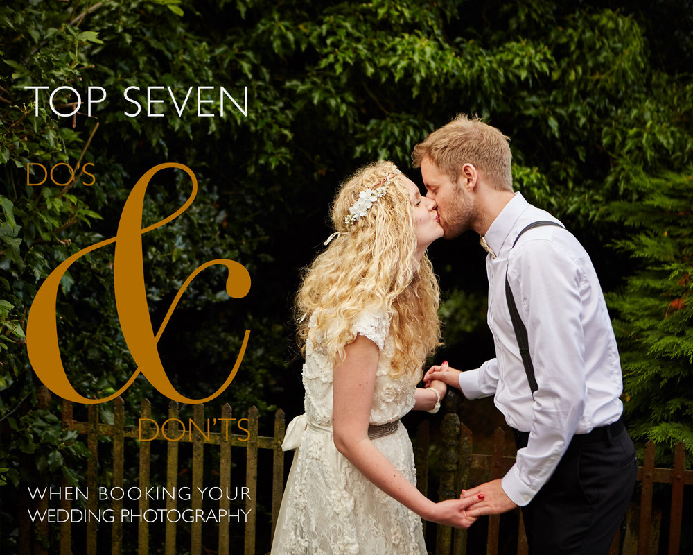 Top eight wedding do's and don'ts when booking a wedding photographer