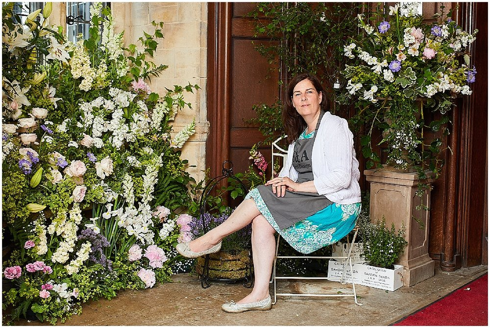 Floral Designer Shirley Dee at Wedding Venue The Petwood Hotel in Woodhall Spa