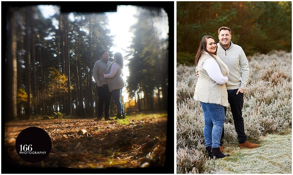 A Lincoln WoodlandLincolnshire wedding photographers photograph a engaged couple in woodland near Lincoln