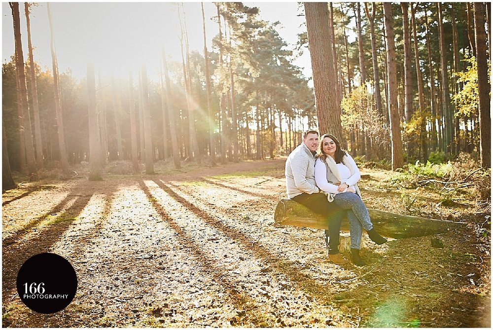 A Lincoln Woodland Pre-wedding photography session