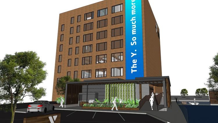 Rendering of the new YMCA of Metropolitan Chicago located in the West Loop