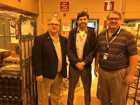 Region 11 National Business Agent Dan Toth, Dave Ishler, President Hornyak