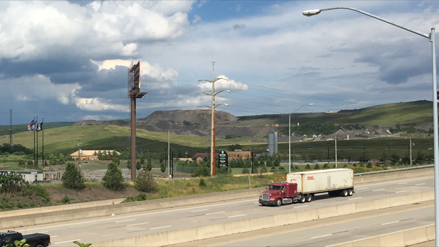A view of KSL from the Reeves Street bridge, which connects the Keystone Industrial Park to the Swinicks neighborhood in Dunmore.
