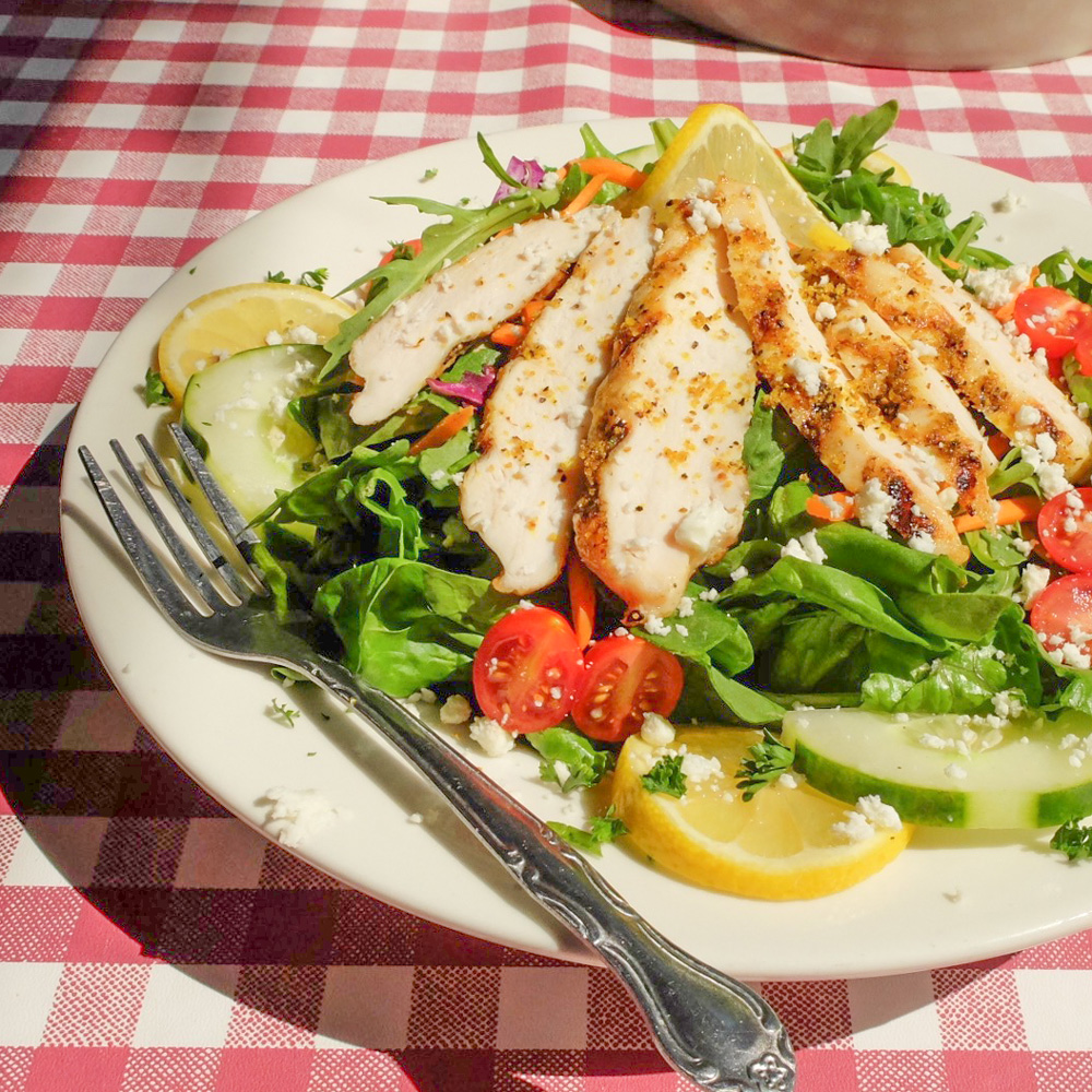 Grilled Lemon Pepper Chicken Salad