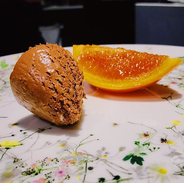 The simplicity of chocolate and orange #winter