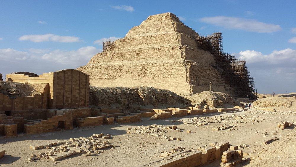 Djoser's pyramid.