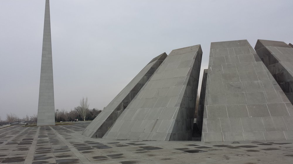 The monument to the Armenian Genocide.