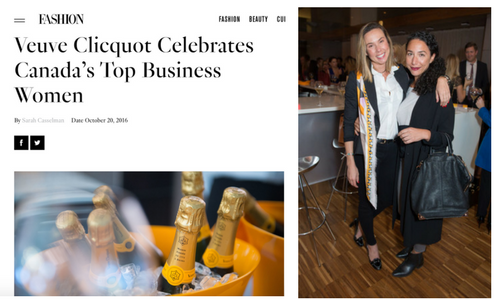 "FASHION Magazine ""Veuve Cliquot Women in Business"""