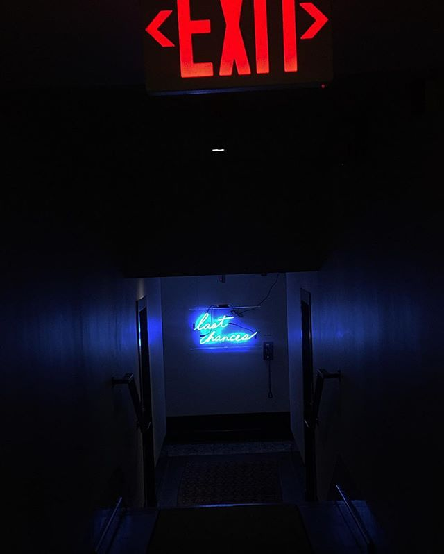 Last chances . . . . . . . . . . . #thedeanhotel #providencerhodeisland #hotel #neon #lastchance #lgbtqia #queer #exit #heresyoursign