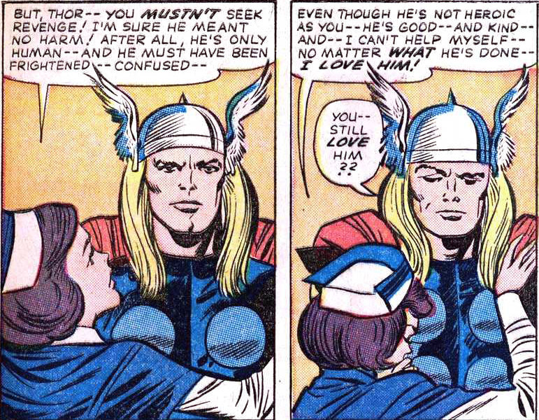Jane has piqued Thor's interest.