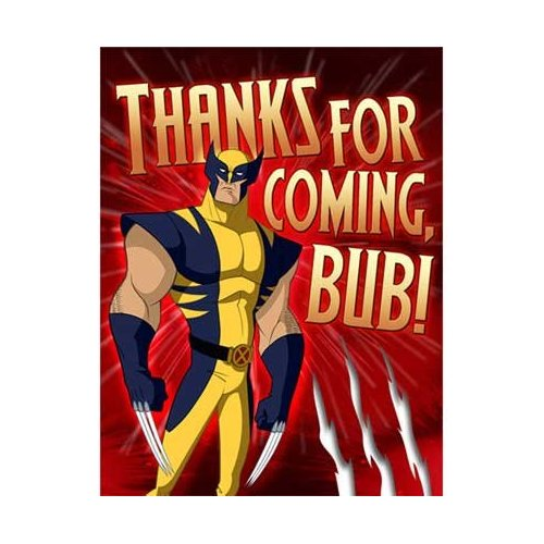 NEW WOLVERINE AND THE X-MEN 8 THANK YOU NOTES  PARTY SUPPLIES