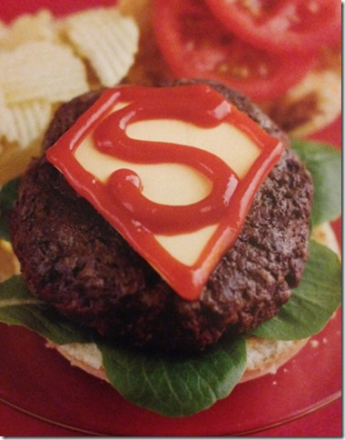 Turn it upside down for a Bizarro Burger!