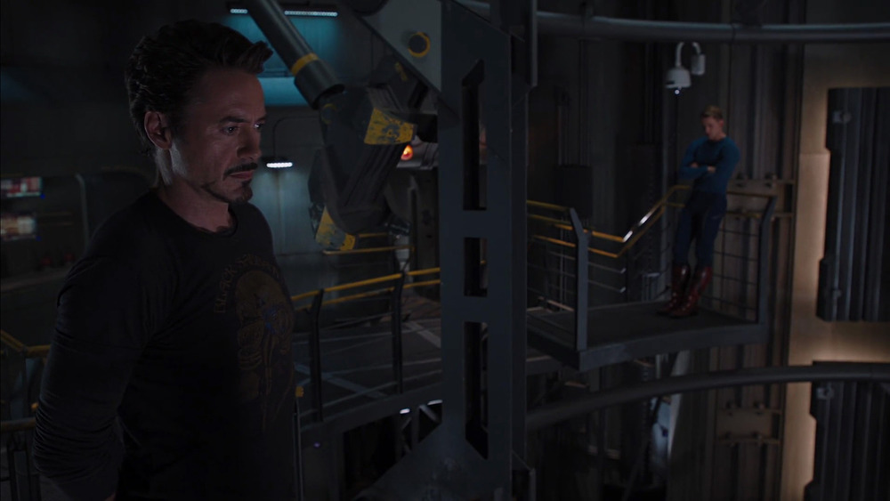 I would like a movie where Tony takes Steve shopping for clothes.