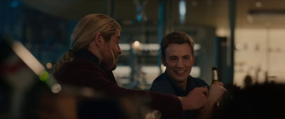 Cap drinks beer just for the taste. That's cute.