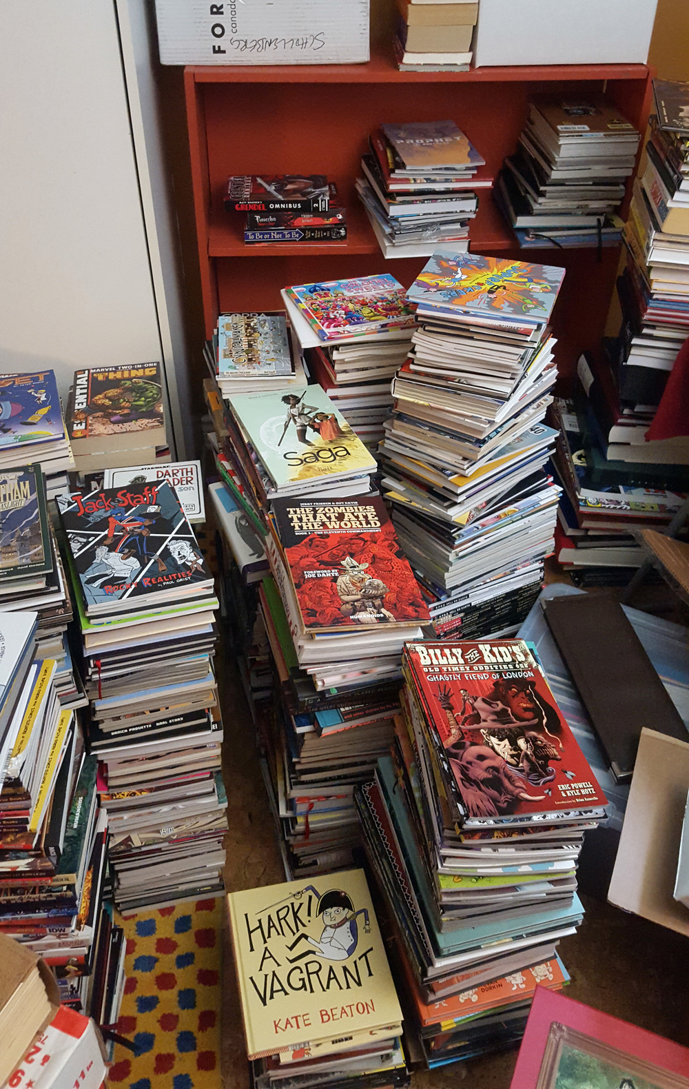 For reference: those stacks are waist high.
