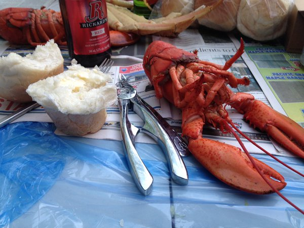 Confession: Eating lobster is just an excuse to consume dinner rolls.
