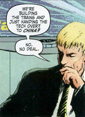 He hates China.