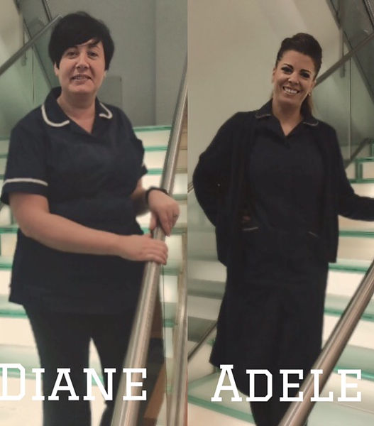 Diane Campbell   Diane is a a fully trained aesthetic nurse, an advanced nurse practitioner as well as a  nurse prescriber. Diane has been a qualified nurse for 28 years specialising in primary and secondary care, midwifery, respiratory care and clinical trials.      Adele Drysdale   Adele is a fully trained aesthetic nurse and has been qualified  for 10 years. She has gained a wealth of experience in secondary and primary care and clinical trials.
