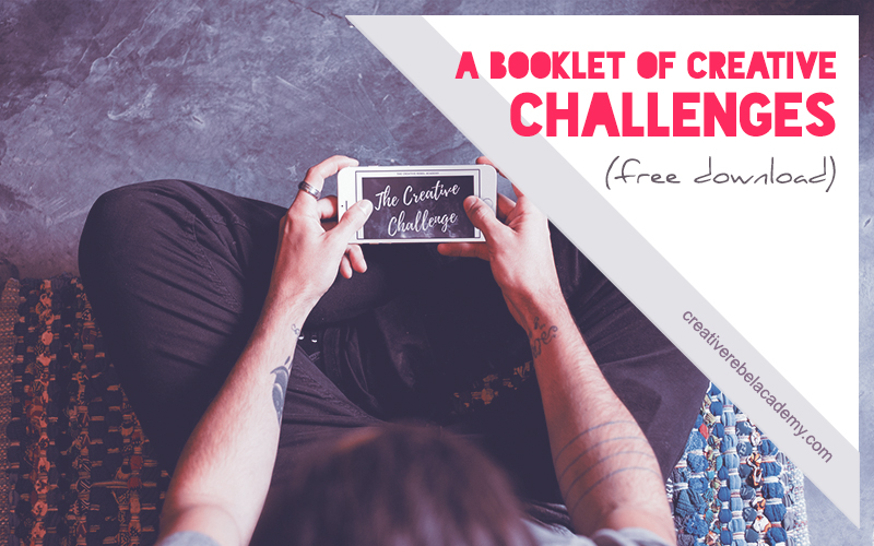 the creative challenge booklet