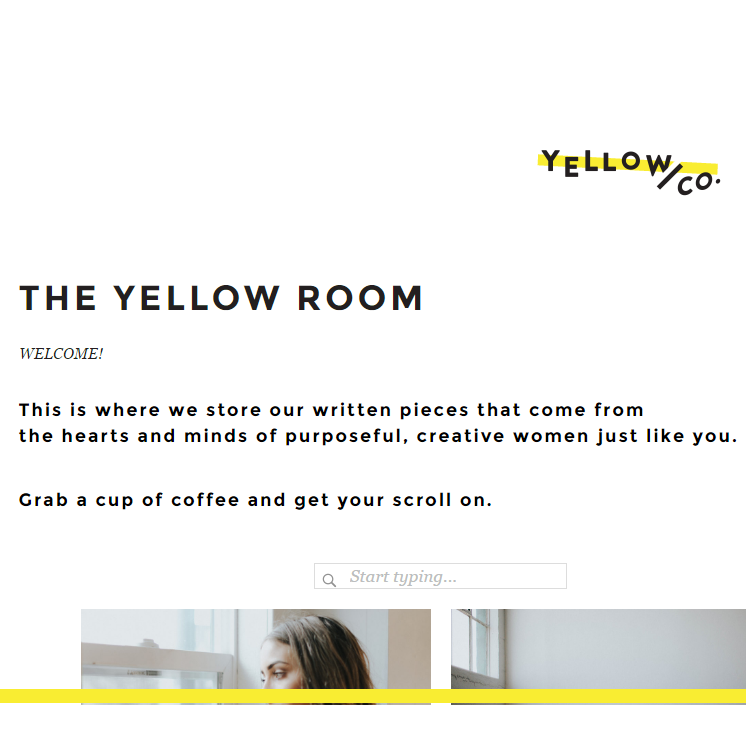 The Yellow Conference articles have been my favorite thing to see in my feedly. They are full of soul and optimism. Must-read.