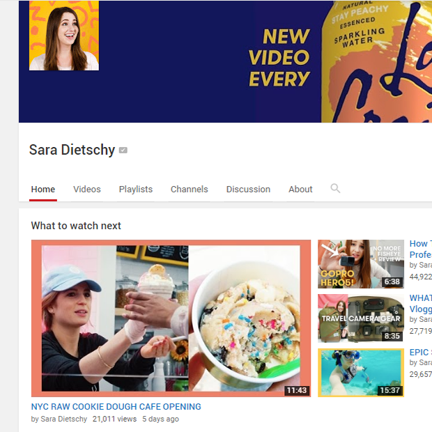 Sara Dietschy is one of the most prolific vloggers I have ever watched grow on Youtube. Love how transparent she is.