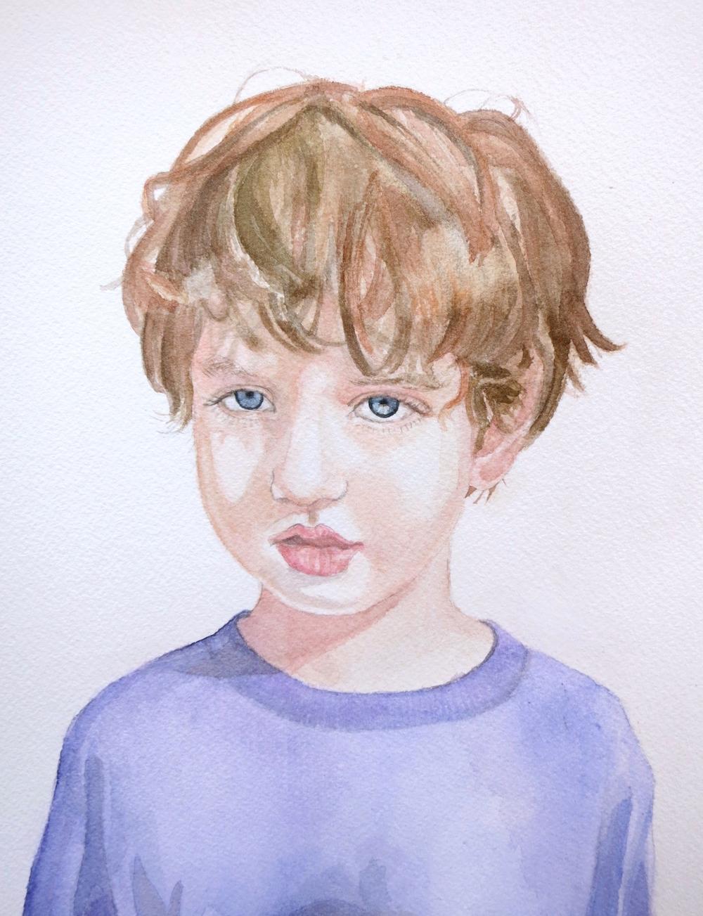 Boy in Purple Shirt