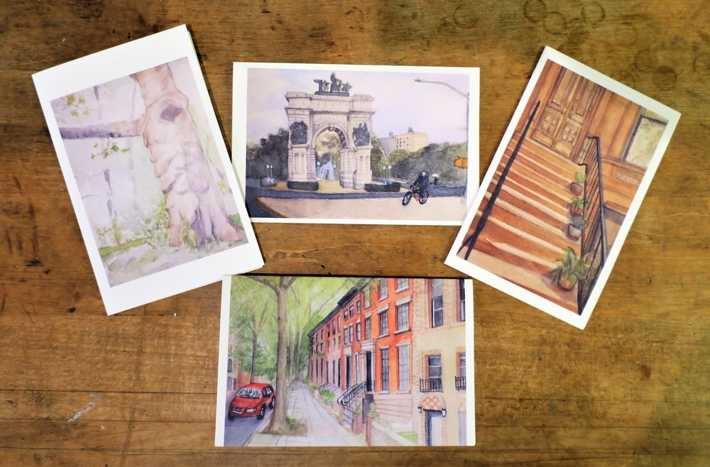 "Aki's note cards will be on sale at Ground Floor Gallery's ""Gifts by Artists"" Holiday Show"