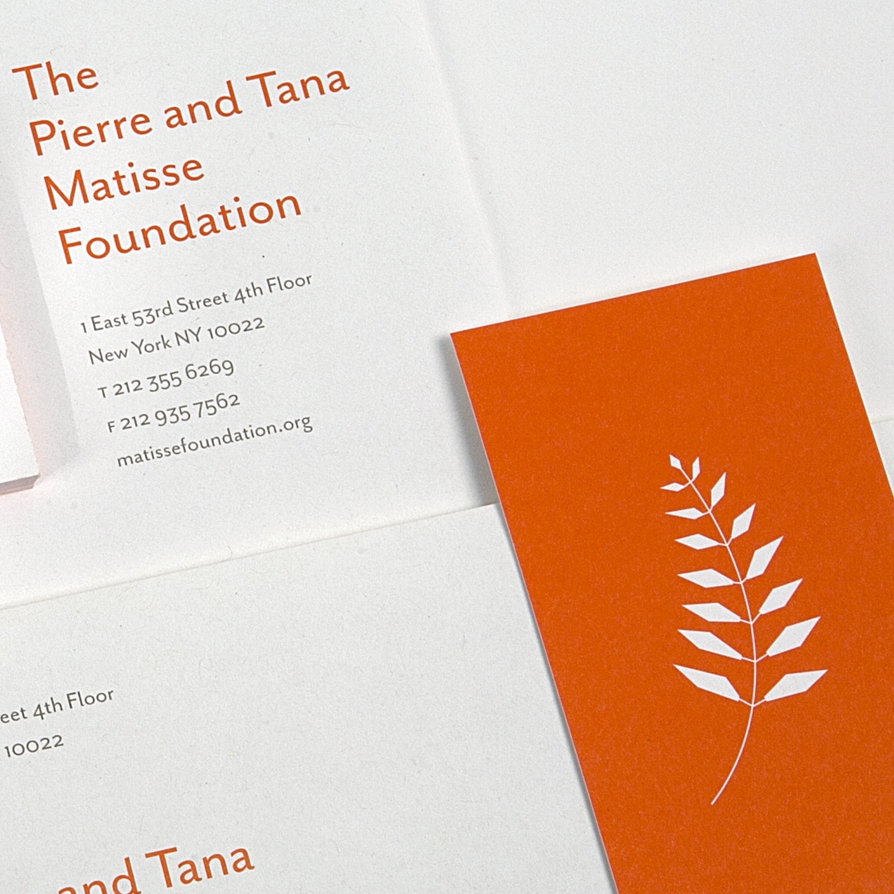 Matisse Foundation. Brand Identity and Web Site.