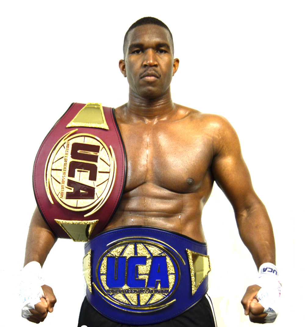 "Marqus ""Sneaky-B"" Blevins   - Amateur Boxing & Muay Thai Fighter  - 195lbs - 215lbs   -  United Combat Association Heavyweight Champion (Boxing - Obtained April 2017)      - United Combat Association Super Cruiserweight Champion (Boxing - Obtained April 2018)    -  Undefeated  (Amateur Boxing & Muay Thai)    - Upcoming Bout:   United Combat Association - Hanford, CA - April 6th, 2019   (Title Fight)"