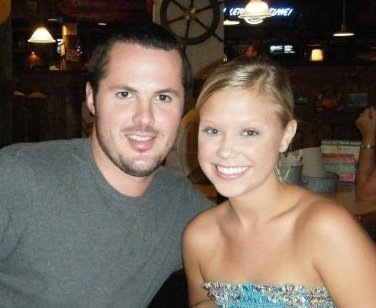 At dinner on our first trip to Nashville together. | 2009