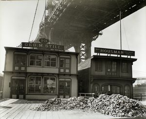 Oyster Houses, South Street and Pike Slip, Manhattan. (April 01, 1937)