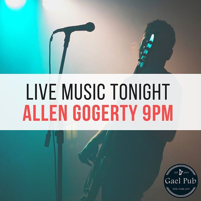 Sing along to all your favorite songs tonight with Allen! The fun starts at 9. No cover! . . #ues #irishpub #nyc #livemusicnyc