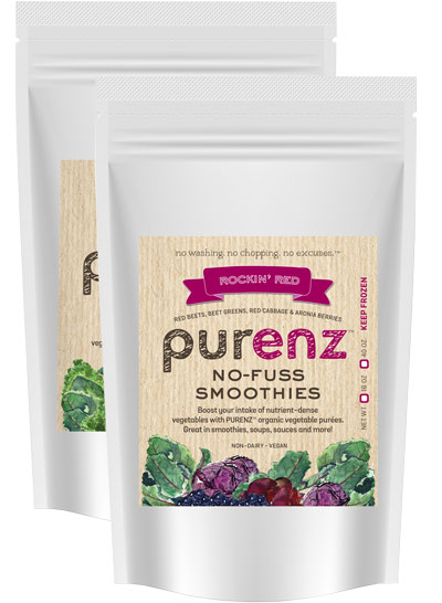 purenz frozen vegetable smoothie purees