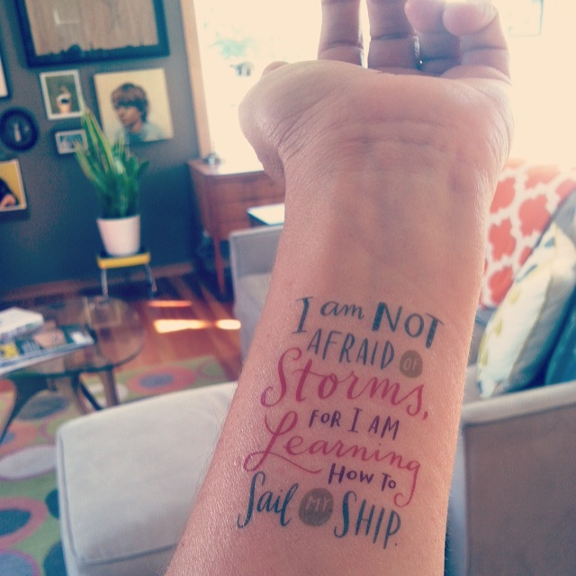 Temporary tattoo by artist Emily McDowell
