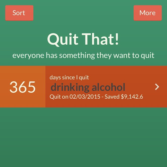I use the Quit That! app on my iPhone + it calculated my alcohol budget at $25 per day