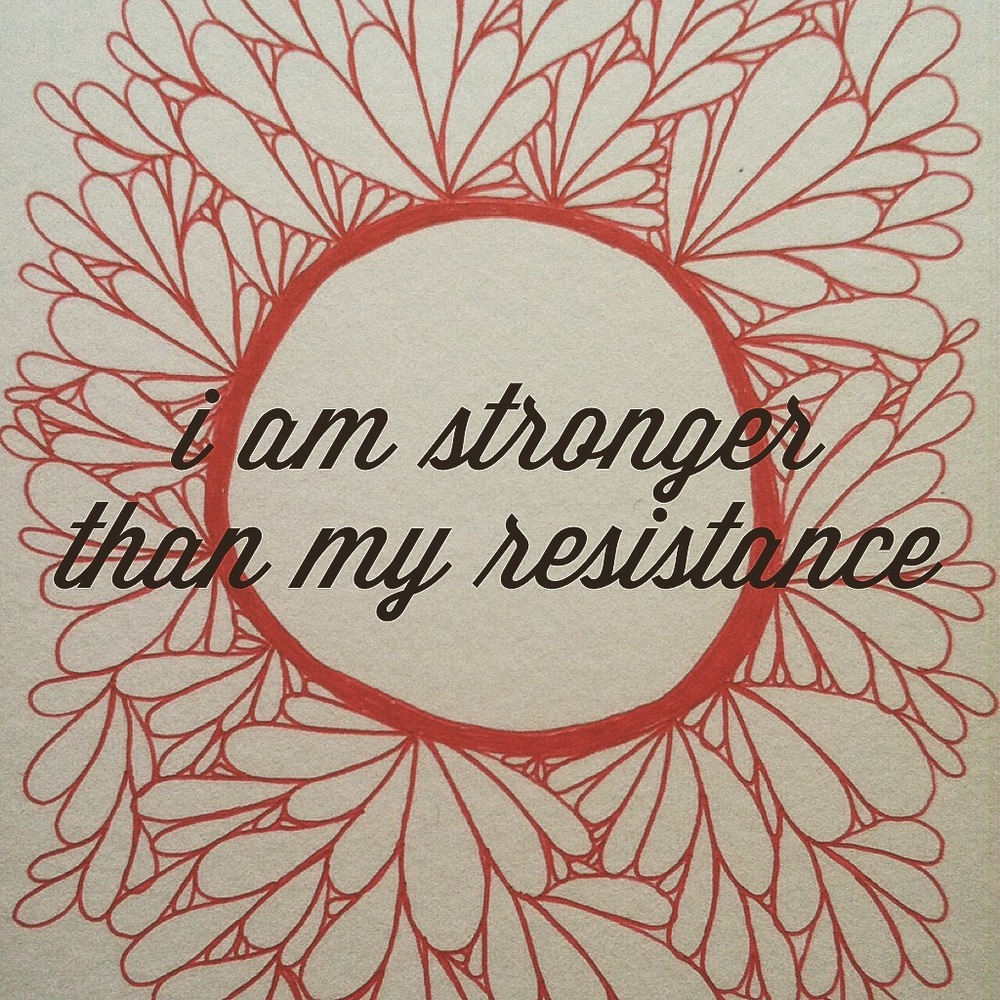 Mantra by  Holly Glenn Whitaker of Hipsobriety.com  Artwork pen + ink by me